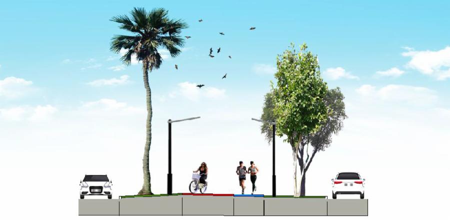 Projeção da Avenida Talma Rodrigues