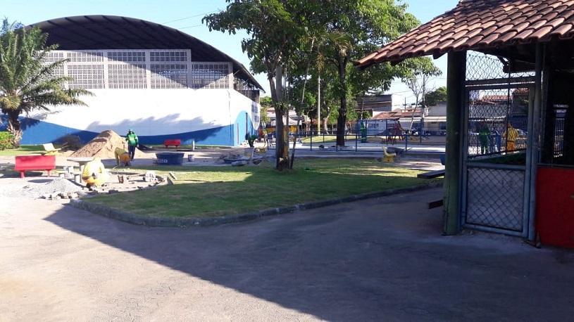 Praça dos Girassóis será entregue aos moradores de Porto Canoa nesta sexta-feira (28)