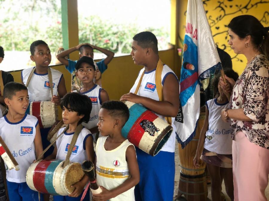 PAC faz ação no projeto social Cidade do Garoto, financiado pela Prefeitura da Serra.