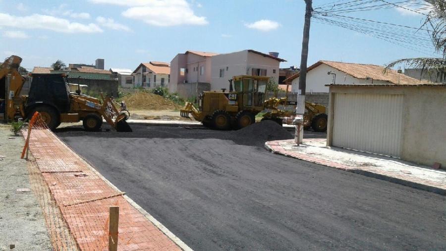 Ruas de Serra Dourada II recebem obras