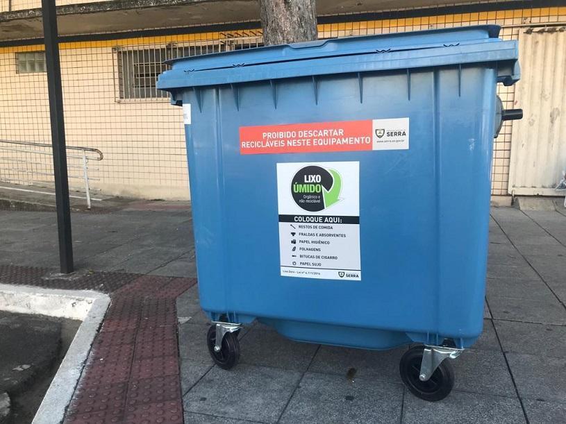 Prefeitura instala mais de 30 contentores de lixo em bairros da Serra