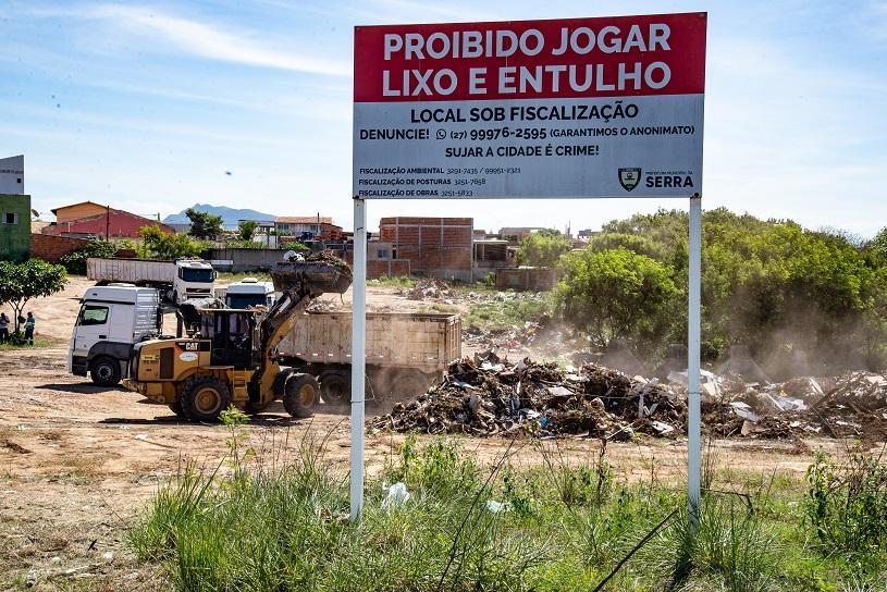 Prefeitura retira 90 mil toneladas de entulho das ruas da Serra em 2019