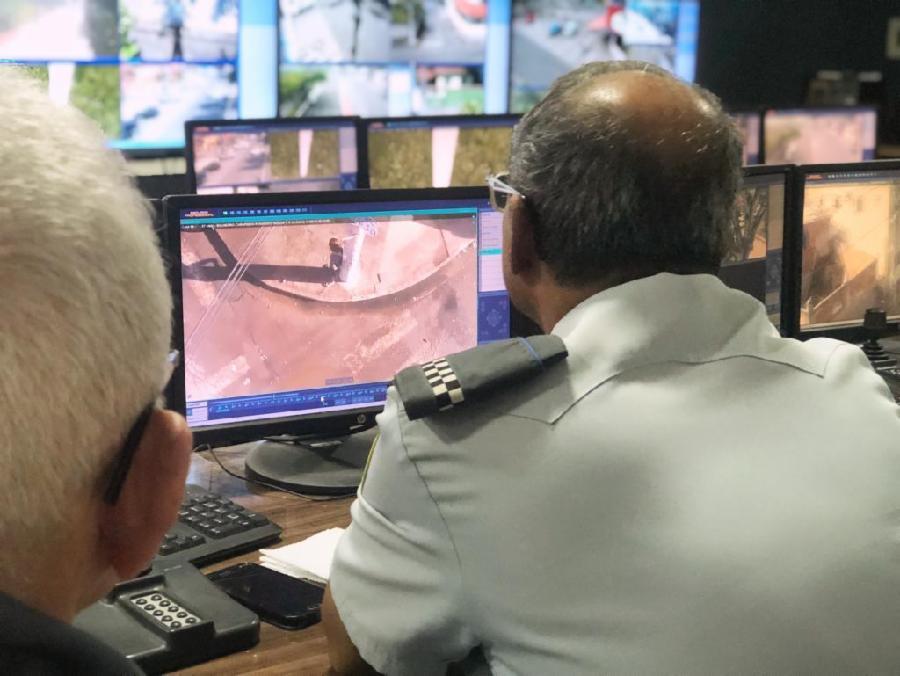 Três detidos por tráfico após flagrante das câmeras de videomonitoramento