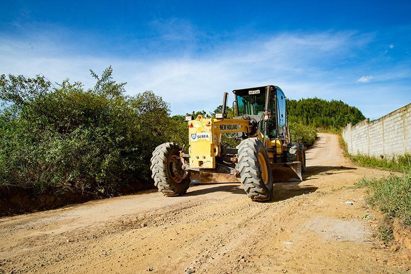 Estrada rural de Putiri recebe melhorias para a Expo Serra 2019