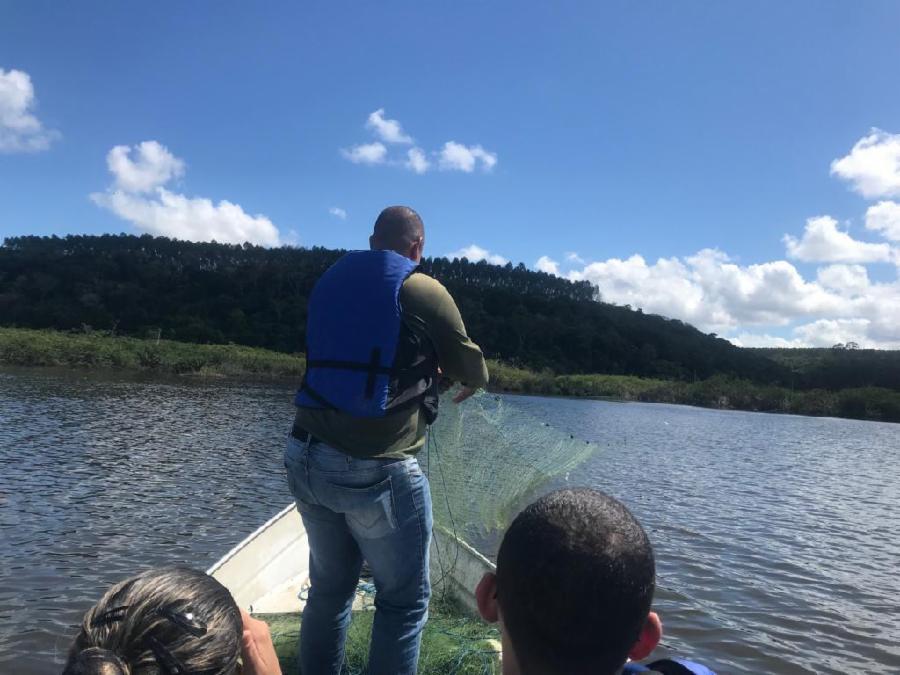 Fiscalização apreende material de pesca irregular na Lagoa Juara