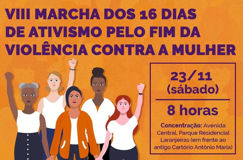 Neste sábado (23): população vai às ruas pelo fim da violência contra as mulheres