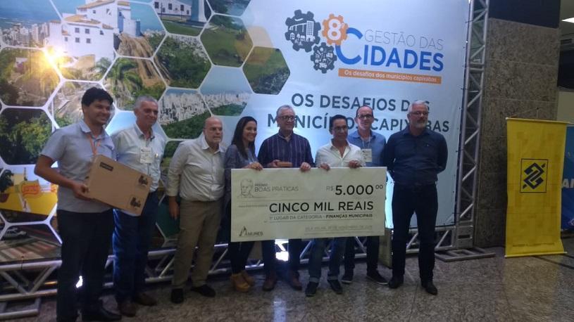 Projeto da Prefeitura sobre finanças municipais fica em 1º lugar no Estado