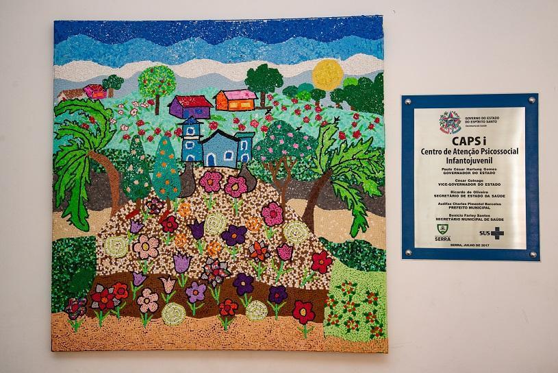 Exposição de trabalhos artísticos de pacientes dos CAPs e da Unidade de Saúde de Jacaraípe
