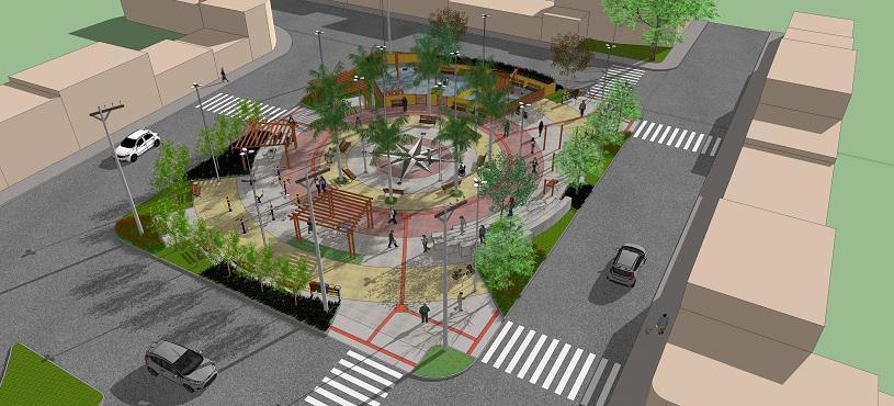 Praça de Nova Carapina II terá mosaico de Rosa dos ventos