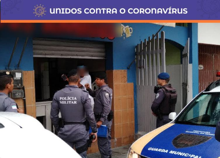 Guarda Municipal, Vigilância Sanitária e Polícia Militar fiscalizam comércios que insistem em abrir