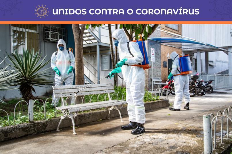 Serra faz limpeza das ruas para combater o coronavírus