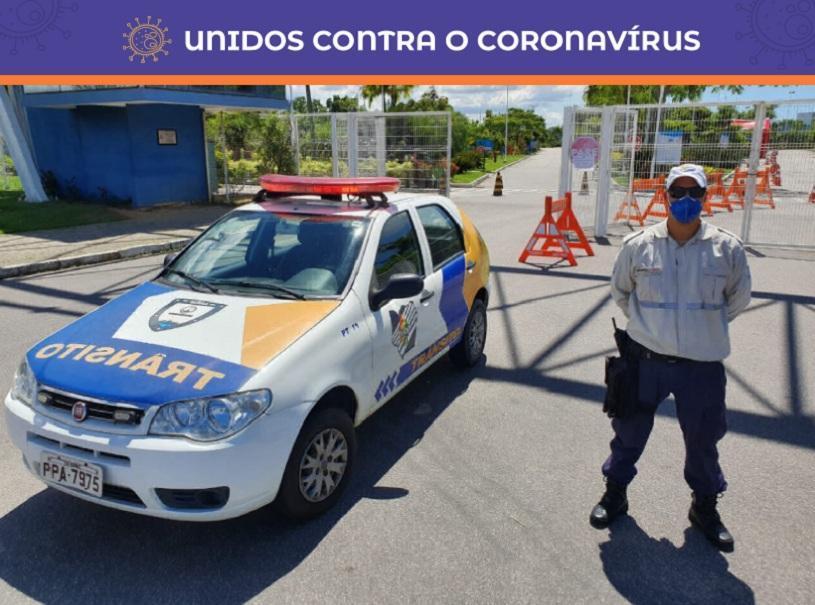Reforço dos agentes de trânsito para vacinação segura contra Influenza
