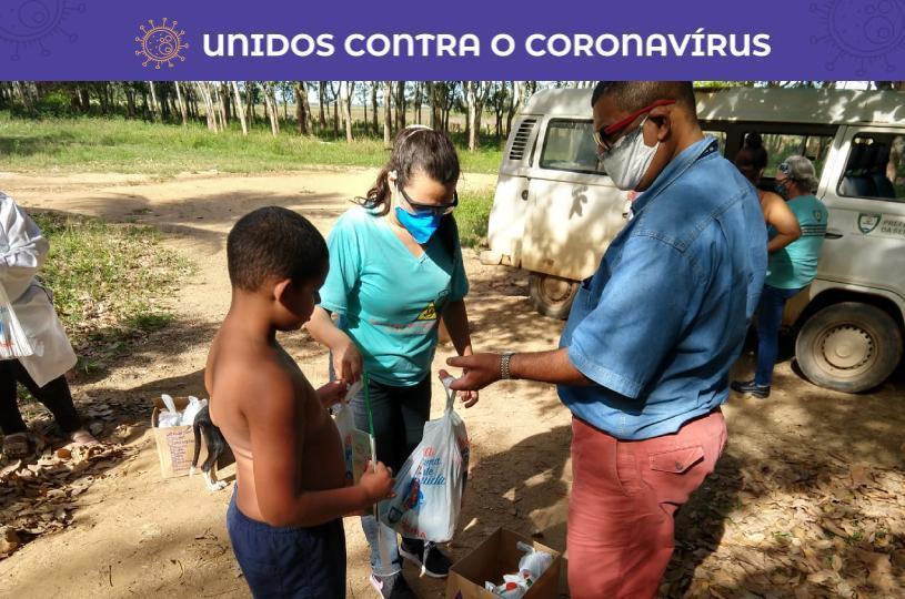 Seap entrega 120 kits de limpeza a moradores da zona rural