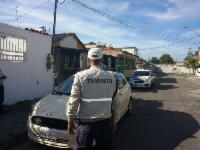 Guardas nas ruas durante o feriado da Semana Santa