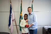Prefeito Audifax Barcelos recebe Jeremias Reis na prefeitura