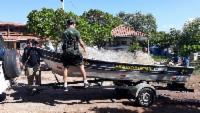 Fiscalização apreende 2.800 metros de redes e uma tarrafa na Lagoa Juara